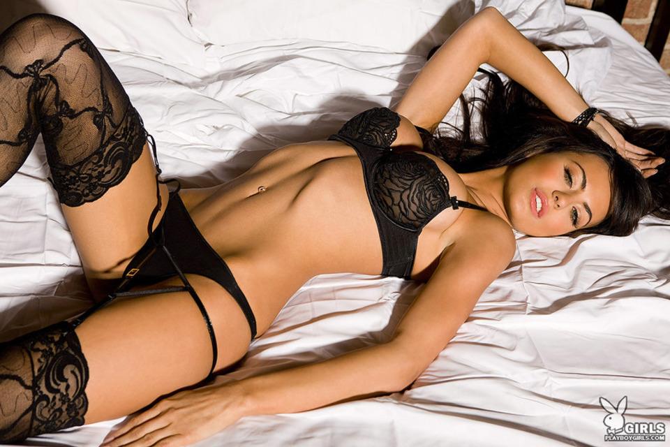 фото секс в черном белье